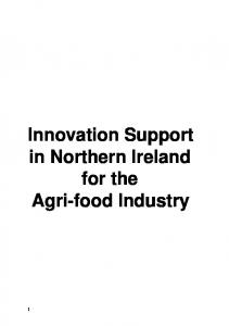 Innovation Support in Northern Ireland for the Agri-food Industry