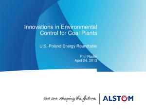 Innovations in Environmental Control for Coal Plants