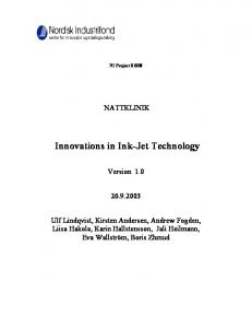 Innovations in Ink-Jet Technology