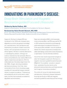 INNOVATIONS IN PARKINSON S DISEASE: