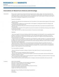 Innovations in Wound Care Devices and Dressings