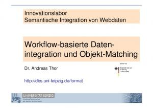 Innovationslabor Semantische Integration von Webdaten