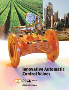 Innovative Automatic Control Valves. Hydraulic Control Valves for Water Works & Irrigation