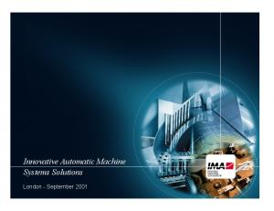 Innovative Automatic Machine Systems Solutions