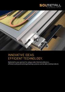 INNOVATIVE IDEAS. EFFICIENT TECHNOLOGY