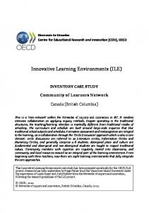 Innovative Learning Environments (ILE)