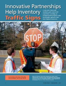 Innovative Partnerships Help Inventory Traffic Signs