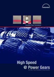 Innovative Power Transmission High Power Gears