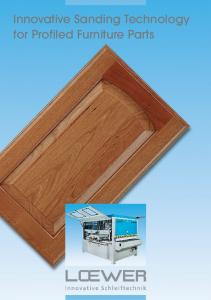 Innovative Sanding Technology for Profiled Furniture Parts