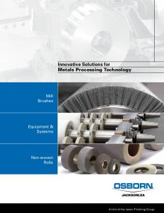 Innovative Solutions for Metals Processing Technology