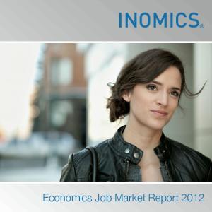 INOMICS Economics Job Market Report 2012 INOMICS