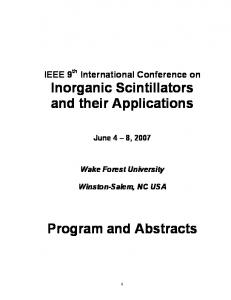 Inorganic Scintillators and their Applications