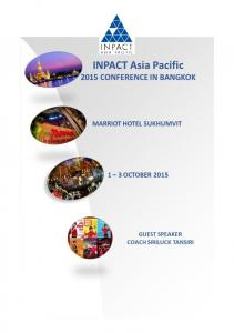 INPACT Asia Pacific Conference Programme Schedule