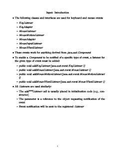 Input: Keyboard (2) A partial list of virtual codes: Description