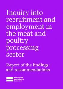 Inquiry into recruitment and employment in the meat and poultry processing sector