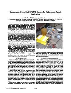 INS Sensors for Autonomous Vehicle Applications