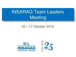 INSARAG Team Leaders Meeting
