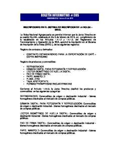 INSCRIPCIONES EN EL SISTEMA DE INSCRIPCION DE LA BOLSA SIBOL