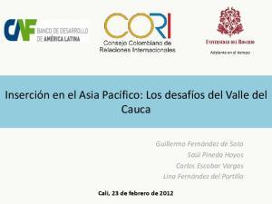 Inserción en el Asia Pacífico: Los desafíos del Valle del Cauca