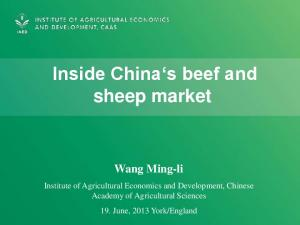 Inside China s beef and sheep market Wang Ming-li