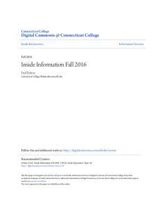 Inside Information Fall 2016