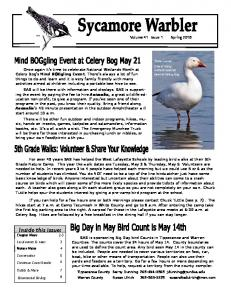 Inside this issue: Chapter News 2-3 Local events & news 3 Nature Notes 4. Volume 41 Issue 1 Spring 2016