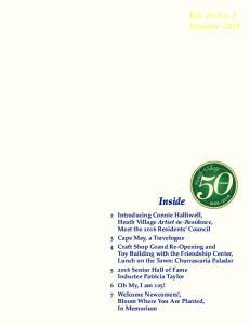 Inside. Vol. 48 No. 2 Summer 2016