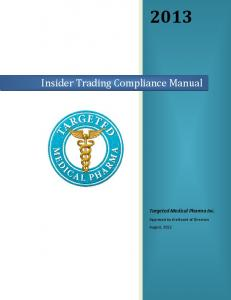 Insider Trading Compliance Manual