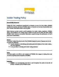 Insider Trading Policy