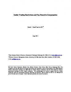 Insider Trading Restrictions and Top Executive Compensation