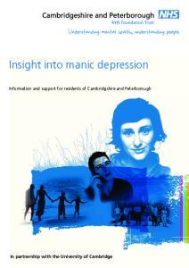 Insight into manic depression