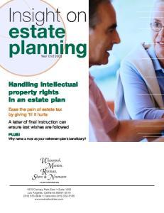 Insight on estate planning