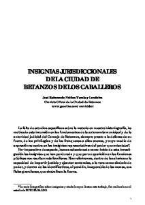 INSIGNIAS JURISDICCIONALES DE LA CIUDAD DE BETANZOS DE LOS CABALLEROS