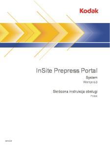InSite Prepress Portal