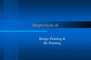 Inspection of. Bridge Painting & Re-Painting