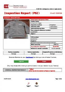 Inspection Report(PSI)