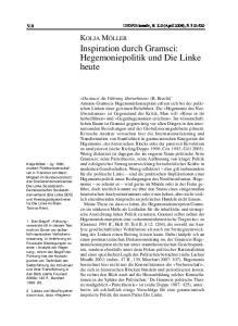 Inspiration durch Gramsci: Hegemoniepolitik und Die Linke heute
