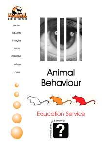 inspire educate imagine enjoy conserve believe Animal Behaviour care Education Service Animal Behaviour & Learning