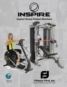 Inspire Fitness Product Brochure