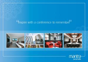 Inspire with a conference to remember