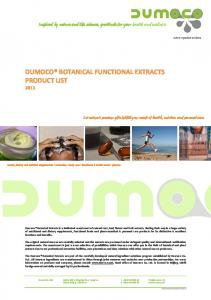 Inspired by. nature and. extracts, finding.  Dumoco Co. Ltd