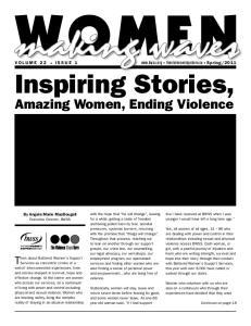 Inspiring Stories, Amazing Women, Ending Violence