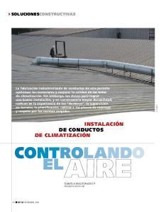 Instalación de conductos de climatización