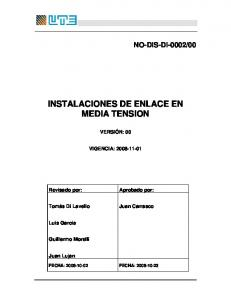 INSTALACIONES DE ENLACE EN MEDIA TENSION