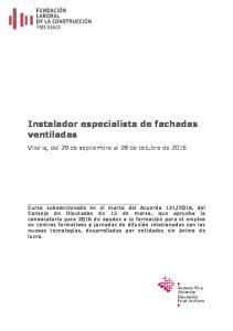 Instalador especialista de fachadas ventiladas
