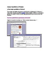 Instalar OpenBiblio en Windows