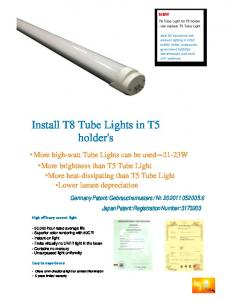 Install T8 Tube Lights in T5 holder's