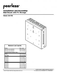 Installation and Assembly: Wall Mount with PC Storage