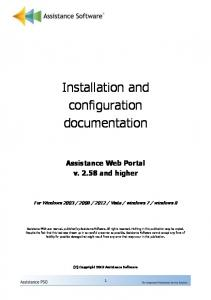 Installation and configuration documentation