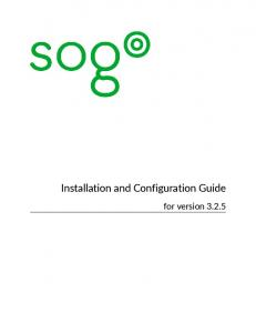 Installation and Configuration Guide. for version 3.2.5